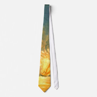 Frigate Missouri Explosion 1843 Neck Tie