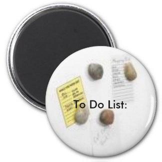 frige, To Do List: 2 Inch Round Magnet