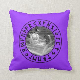Frigg Rune Shield Throw Pillows