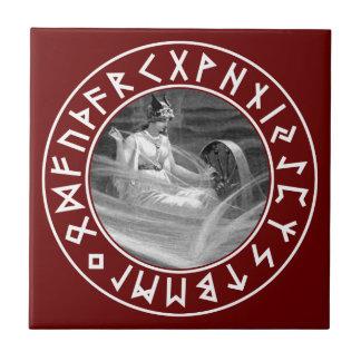 Frigg Rune Shield Tile