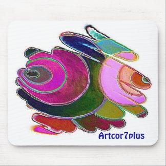 Frigga Pink Blue Spirals Mousepad
