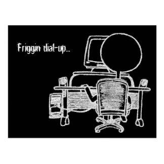 Friggin Dial-up Postcard