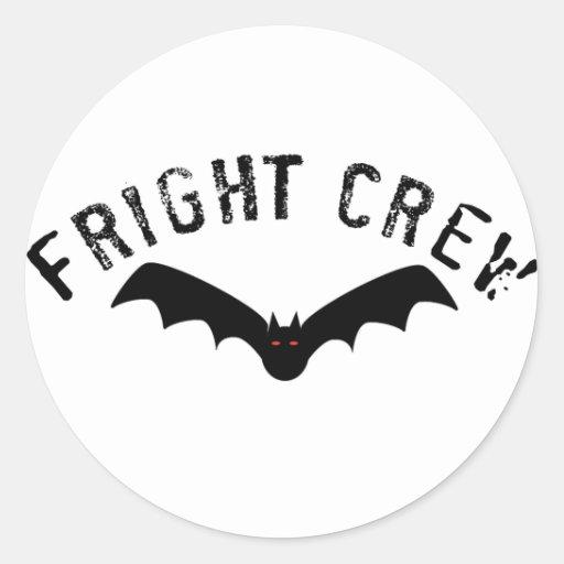 Fright Crew Round Sticker