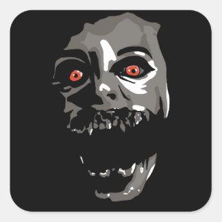 Fright Face Square Sticker