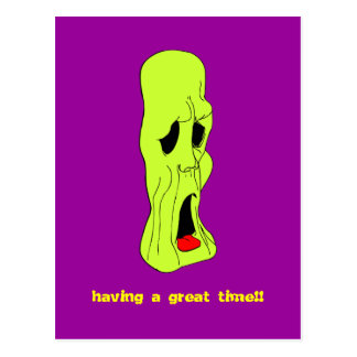 Fright Fest Cartoon Ghoul Postcard