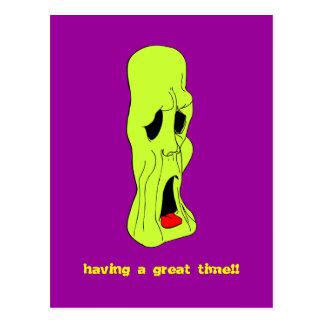Fright Fest Cartoon Ghoul Postcard