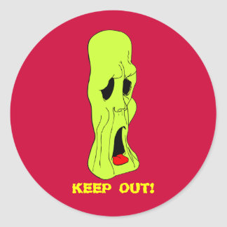 Fright Fest Cartoon Ghoul Classic Round Sticker
