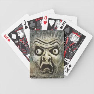 FRIGHT gargoyle face Bicycle Playing Cards