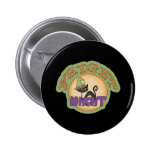 Fright Night Black Cat Cute Halloween Pinback Buttons