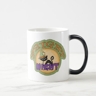 Fright Night Black Cat Cute Halloween Coffee Mugs