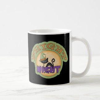 Fright Night Black Cat Cute Halloween Classic White Coffee Mug