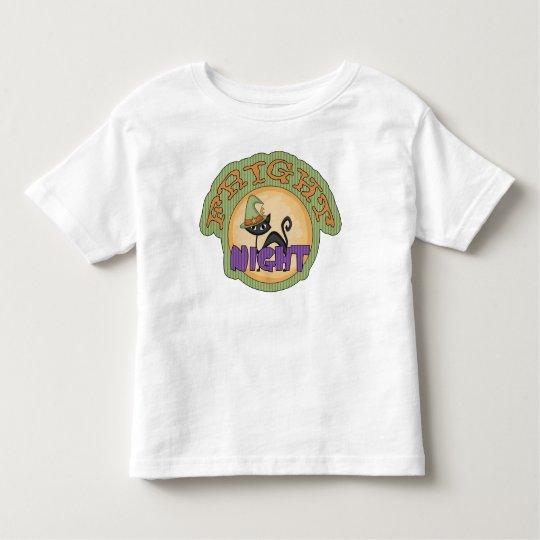 Fright Night Black Cat Cute Halloween Toddler T-shirt