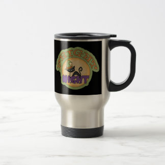 Fright Night Black Cat Cute Halloween Travel Mug