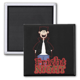 Fright Night Dracula Halloween 2 Inch Square Magnet