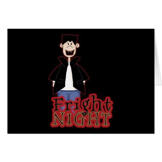 Fright Night Dracula Halloween Card