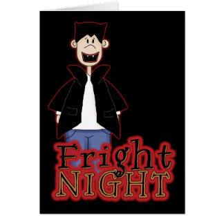 Fright Night Dracula Halloween Card