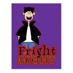 Fright Night Dracula Halloween Post Card