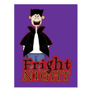 Fright Night Dracula Halloween Postcard