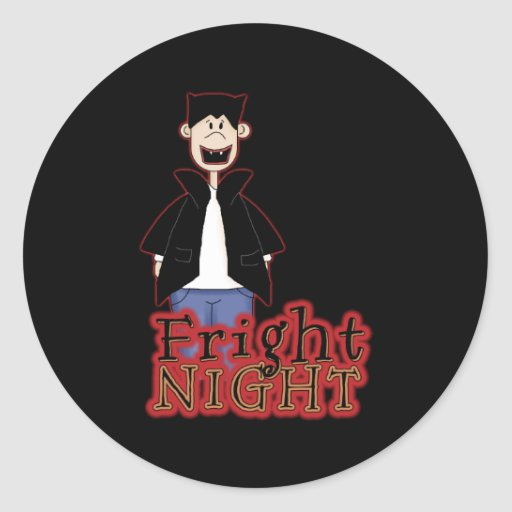 Fright Night Dracula Halloween Round Sticker