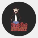 Fright Night Dracula Halloween Classic Round Sticker