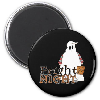 Fright Night Ghost Halloween 2 Inch Round Magnet
