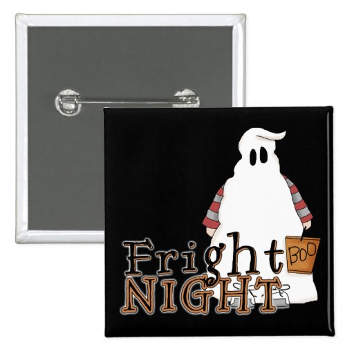 Fright Night Ghost Halloween 2 Inch Square Button