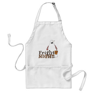 Fright Night Ghost Halloween Adult Apron