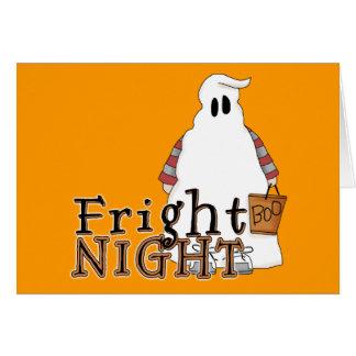 Fright Night Ghost Halloween Card