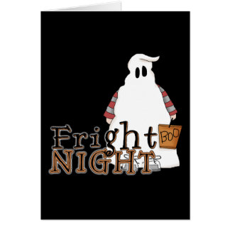 Fright Night Ghost Halloween Greeting Card