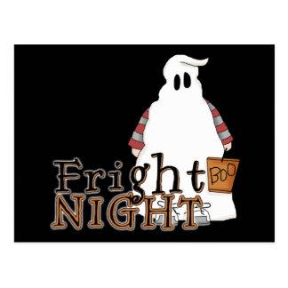 Fright Night Ghost Halloween Postcard