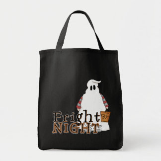 Fright Night Ghost Halloween Tote Bag