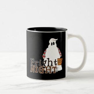 Fright Night Ghost Halloween Two-Tone Coffee Mug