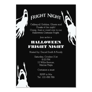 Fright Night Halloween Costume Party Personalized Invite