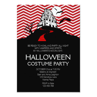 Fright Night Halloween Costume Party Personalized Announcement