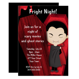 Fright Night Halloween Party Card