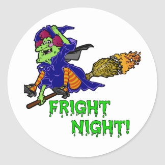 Fright Night Halloween Sticker