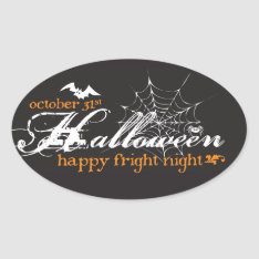 Fright Night Halloween Stickers at Zazzle