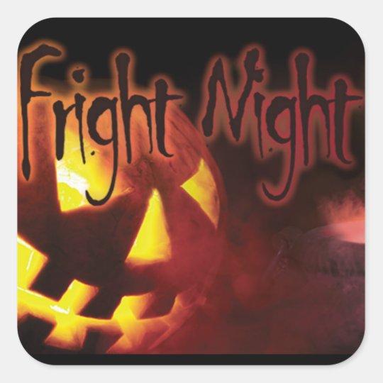 Fright Night on Halloween Square Sticker