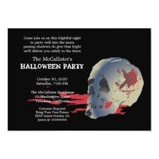 Fright Night Skull Halloween Costume Party Invitation