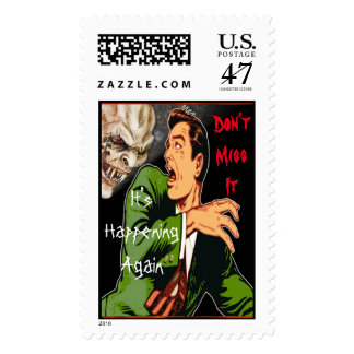 Fright on Site Halloween Scary Night Postage