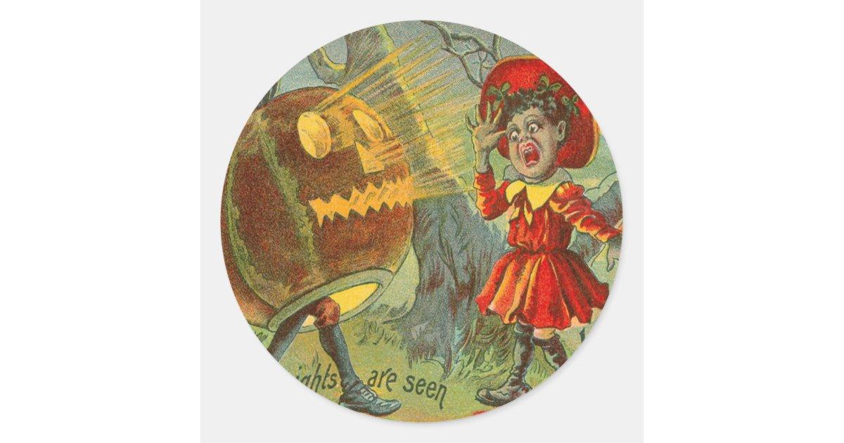 Frightened Child Owl Full Moon Jack O' Lantern Classic ...