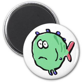 frightened fish 2 inch round magnet