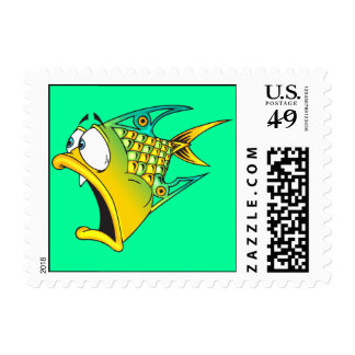 Frightened Fish Postage