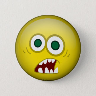 Frightened Pinback Button