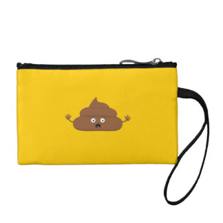 Frightened poo coin purse
