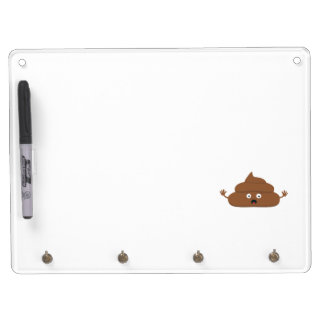Frightened poo dry erase whiteboard