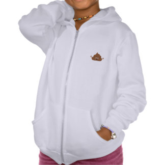 Frightened poo hooded sweatshirt