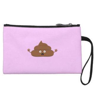 Frightened poo wristlet wallet