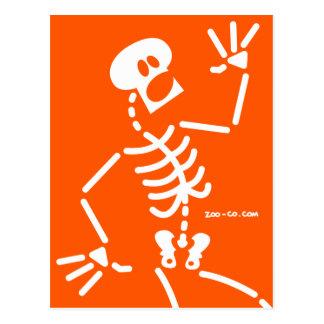Frightened Skeleton Postcard