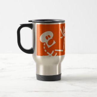 Frightened Skeleton Travel Mug